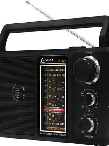 LENOXX RADIO PORTATIL AM/FM C/ 12 FAIXAS