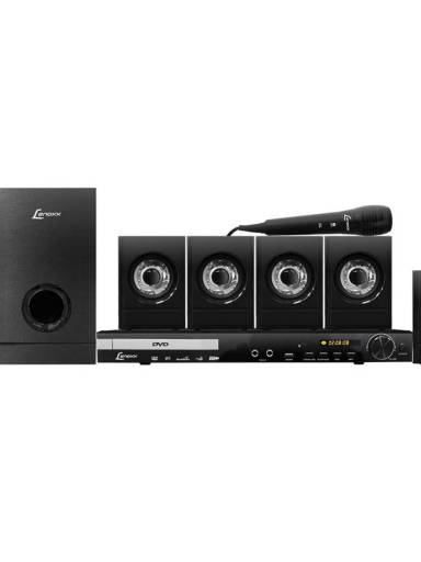 HOME THEATER LENOXX COM DVD PLAYER/FM STEREO/USB/KARAOKE/RIPPING - 350W