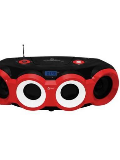 RADIO FM PRETO/VERMELHO ESTEREO COM CD / MP3 / USB/AUXILIAR