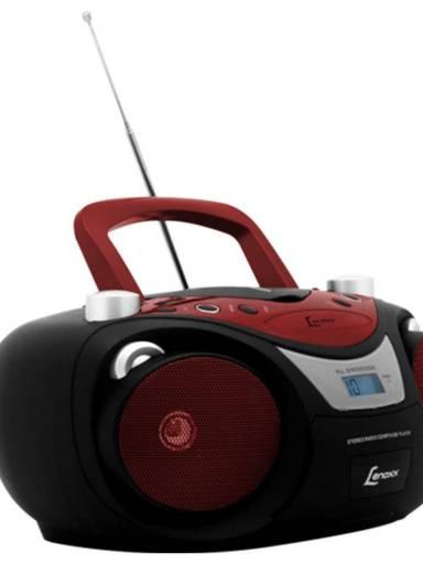 RADIO PRETO/VERMELHO FM ESTEREO COM CD / MP3 /USB / ENTRADA AUXILIAR